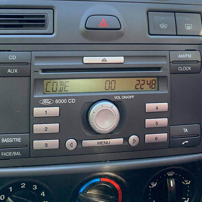 ford 6000 cd radio code 2005 - 2008