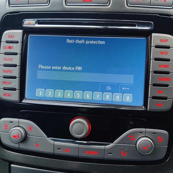 ford Blaupunkt travelpilot FX NE EX - Navi radio code